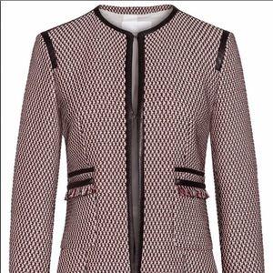 Hugo Boss Keili Collarless Tweed Jacket